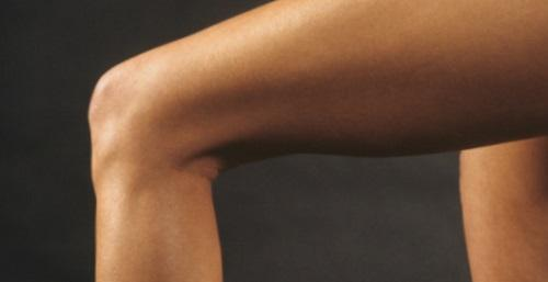 FEMALE LEG BEND AT KNEE LATERAL VIEW